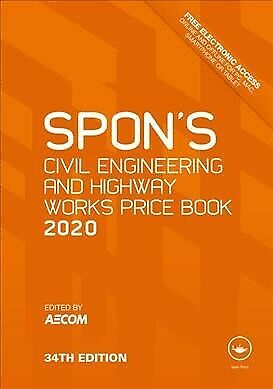 Spon's Civil Engineering and Highway Works Price Book 2020, Hardcover by Aeco...