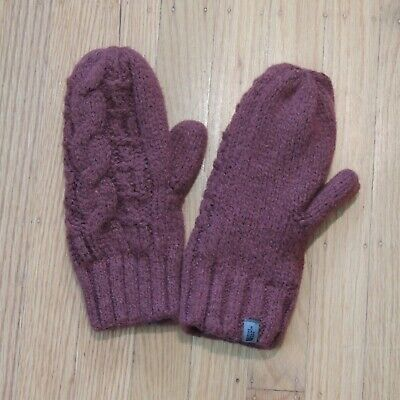 The North Face Cable Knit Mittens Burgundy Size Large/XL Gloves