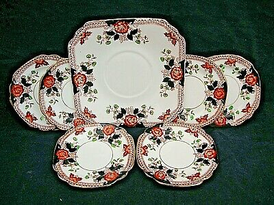 7 piece Doric China Co cake / side  serving plates 1920-1930