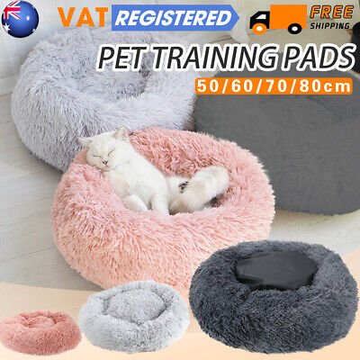 Dog Pet Cat Calming Bed Beds Large Comfy Puppy Washable Fluffy Cushion Mattress
