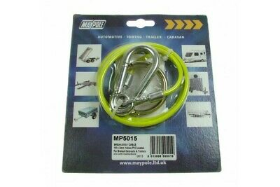 New Yellow Breakaway Burst Ring Cable Trailer Caravan Horse Box 1M, 3mm Diameter