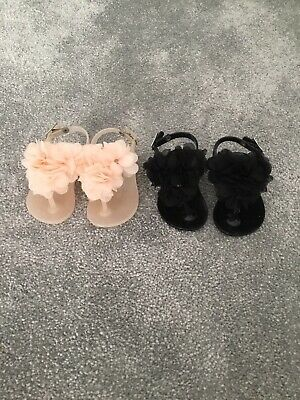 2 Pairs Of Baby Girls Sandals River Island Size 3