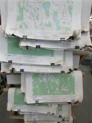 """50 New York State Assorted 22"""" X 27"""" Topographical Maps"""