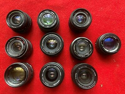 Lot of 10 35mm SLR Lenses , etc With Various Mounts  very good condition
