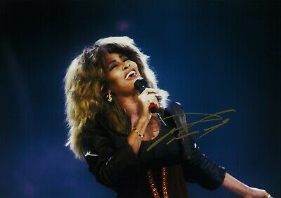 "Tina Turner -  Hand Signed Autograph Photo 8x12"" - COA"
