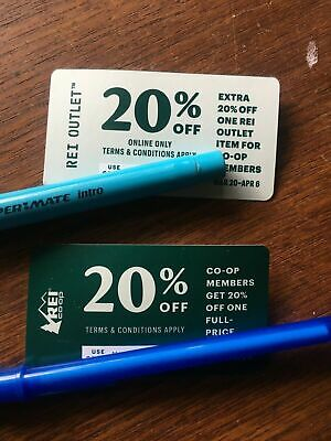 REI Coupon 20% Off Two full Price Items Co-op & Outlet Good From Mar 20 - Apr 6