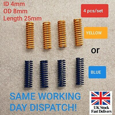 4 Pcs Creality Ender 3 Pro CR-X CR-10 S Ultimate Upgraded Flat Bed Springs UK
