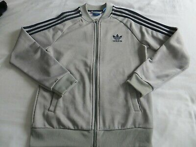 Boys Grey  Adidas Trefoil Zip Up Track Suit Top Age 11-12 yrs
