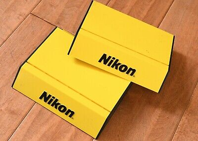Yellow Plastic Set of 2 New Nikon Store Display Stands