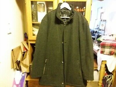 NEW Jos. A. Bank Traditional Fit Heathered Wool Car Coat Charcoal Gray Sz XXL
