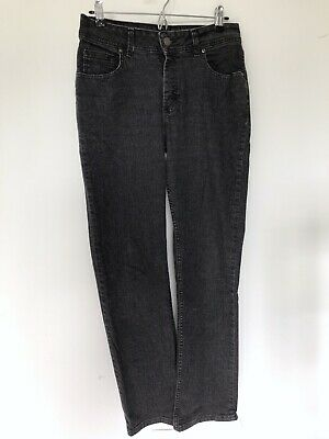 Riders by Lee Womens Midrise Bootcut Jean Size 10 M Jeans Faded Black