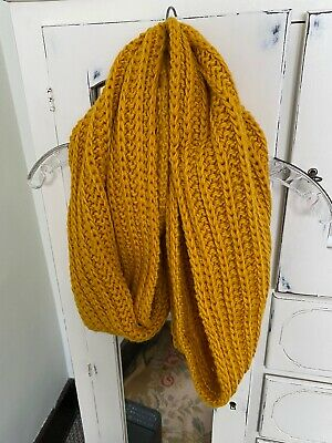 Coach Ribbed Knit Cowl Scarf -Golden Yellow - NWOT