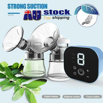 AU Electric Hand Free Double Breast Pump Automatic Intelligent Baby Feeder Silen