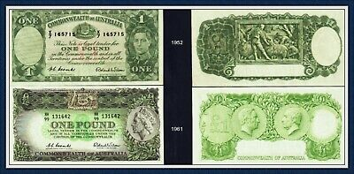 VF-gEF One Pound Banknotes Coombs/Wilson 1952 -1961  R-32 and R-34