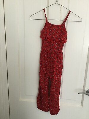 Girls Red Jumpsuit Size 5