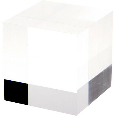 """Plymor Clear Polished Acrylic Square Display Block, 4"""" H x 4"""" W x 4"""" D"""