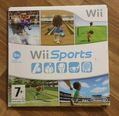 Wii Sports Game Disc - Nintendo Wii / Wii U - Bowling, Tennis, Golf, Boxing