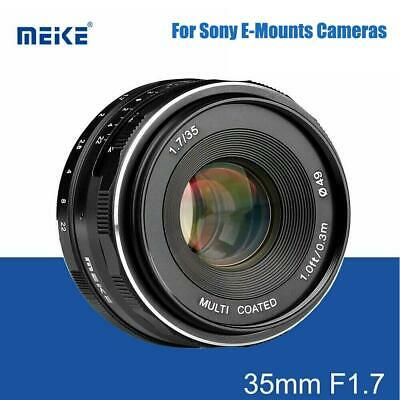 Meike 35mm F1.7 Fixed Manual Lens for Mirrorless APS-C Frame Sony E-Mount Camera