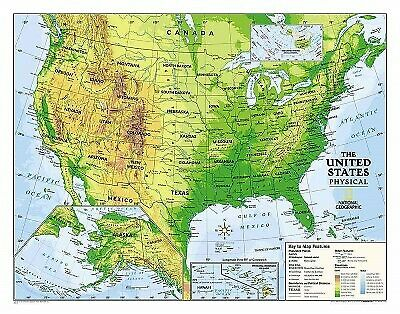 Kids Physical USA Education, Grades 4-12 : Wall Maps Education, Paperback by ...