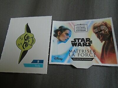 YODA N°B  STICKERS ( autocollants ) STAR WARS 2019 LECLERC à l'unité