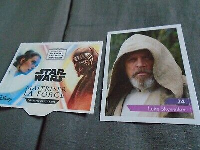 LUKE SKYWALKER N°24 STICKERS ( autocollants ) STAR WARS 2019 LECLERC à l'unité