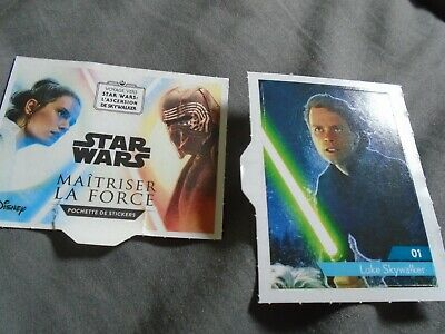 LUKE SKYWALKER N°01  STICKERS ( autocollants ) STAR WARS 2019 LECLERC à l'unité