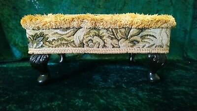 sherborne Foot Stool, Retro / Vintage Queen Anne Style in excellent condition.