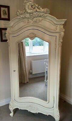 Gorgeous French Style Armoire Shabby Chic Single Wardrobe with Mirror