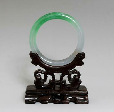 Perfect Rare Chinese Carved Natural Jadeite Bracelet Bangle 5.8Cm (K35)