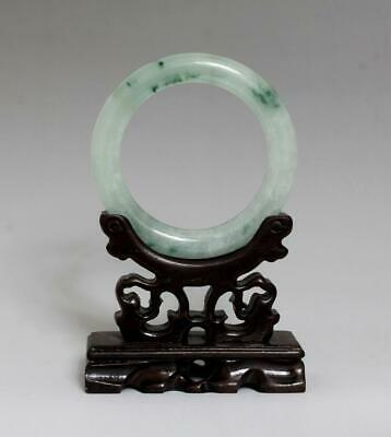 Perfect Rare Chinese Carved Natural Jadeite Bracelet Bangle 6Cm (K37)
