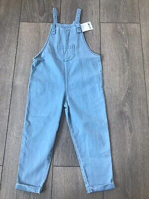 Girls Next BNWT Thin Cotton Dungarees Age 2-3 Years