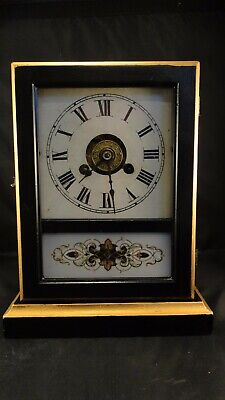 Antique 200 year old American  Jurome & co parlar mantle clock 1825-1842
