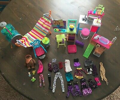 barbie lot /Furniture/Clothes/ Monster High