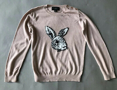 Victoria Beckham For Target Pink Rabbit Jumper Girls Large