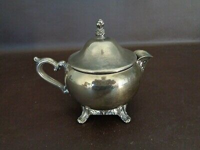 Vintage Silver Plated Creamer With Lid (Unmarked)