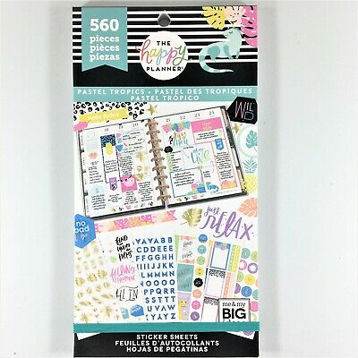 The Happy Planner Pastel Tropics Sticker Book Pack Of 560 Me & My Big Ideas