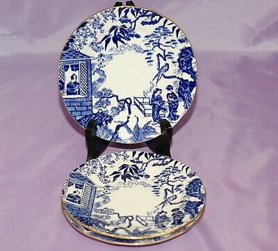 "Royal Crown Derby BLUE MIKADO 6 1/4"" Inch Bread Side Dessert Salad Plate"