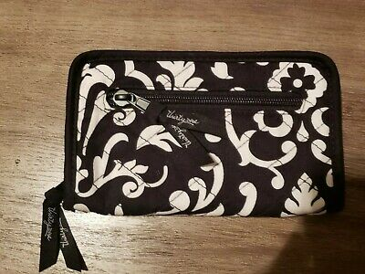 Thirty One Timeless Wallet Black Floral Brushstrokes Organizer 31 Black White