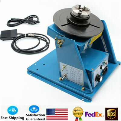 50KG Rotary Welding Positioner Turntable Timing w// 200mm Chuck 120W Motor