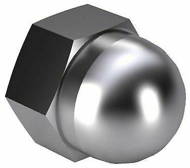 50x Hex domed cap nut, high type, turned Steel Chrome plated 6 turned M8
