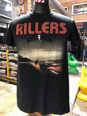 The Killers Nth America Tour 2013 Black Vintage Rock Tee USA 🇺🇸 Size Adult Med