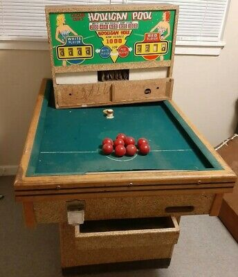 1950s HOOLIGAN POOL EXTREMELY RARE CHICAGO COIN ARCADE ASIS PICK UP