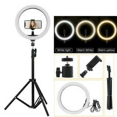 12 Inch Dimmable Diva LED Ring Light Diffuser With Stand Make Up Studio Video AU