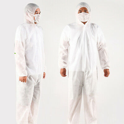 Disposable Safety Protective Clothing White Coveralls Suit Full Protection BEST