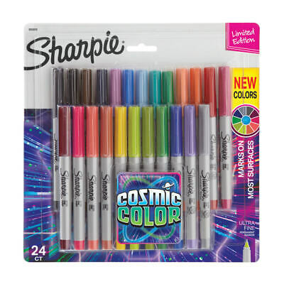 Sharpie Permanent Ultra-Fine Point Markers, Assorted Colors, Pack Of 24 Markers