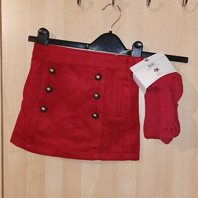 Girls Next Red Skirt & Tights Set Age 5
