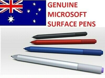 Genuine Microsoft Surface PRO Touch Pen Red Blue Black Silver Plus 2 x batteries