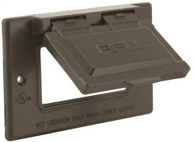 HUBBELL 5101-7 Cover 2-13/16 in L 4-9/16 in W Metal For GFCI Receptacles