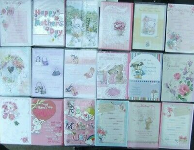 30 Greeting Cards Quality Mothers Day Cards Joblot Wholesale