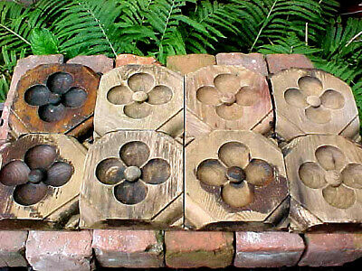 Antique Gothic Victorian Wood Plinth Block Clover Leaf Shabby Chic Architecture